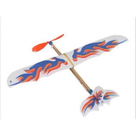 Rubber Powered Foam - Plastic Plane - Xbotics