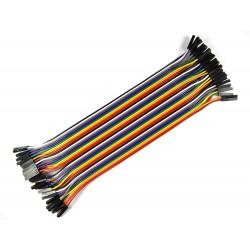 Jumper Wire M2M 40 Pcs - Electronic Supplies - Xbotics