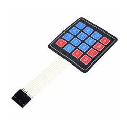 Membrane Type 4x4 Matrix Keypad - Switches - Xbotics