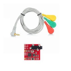 EMG Muscle Sensor Module V3.0 with Cable And Electrodes - Heart Beat Sensors - Xbotics