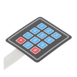 Membrane Type 4x3 Matrix Keypad - Communication Devices - Xbotics