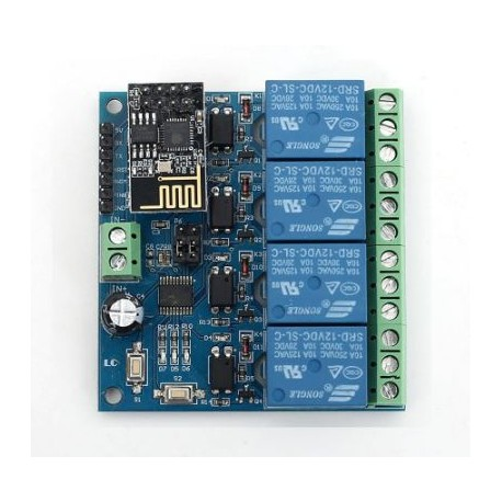 WIFI Relay Module ESP8266 IOT APP Controller 5V,4-Channel For Smart Home  - Wireless - Xbotics
