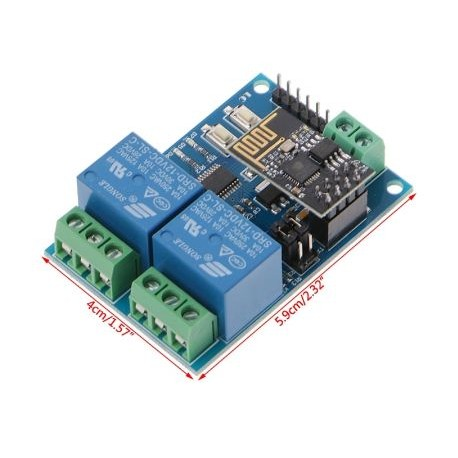 WIFI Relay Module ESP8266 IOT APP Controller 2-Channel For Smart Home - Wireless -  Xbotics
