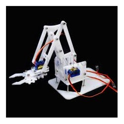 4 DOF Acrylic Mechanical Arm Robot Manipulator Claw kit for Arduino Maker Learning DIY Kit Robot  - Kits/Combos - Xbotics