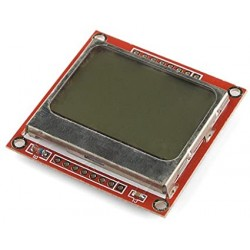 84x84 Nokia 5110 Screen for Arduino - Electronic supplies - Xbotics