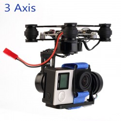 3 axis FPV camera gimbal with control board - FPV - Drone - Xbotics