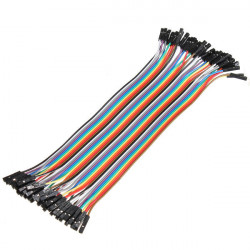 Jumper Wire F2F 40 pcs - Electronic Supplies - Xbotics