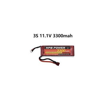 Lipo Battery 11.1 3300mAh - Battery &Charger - Xbotics