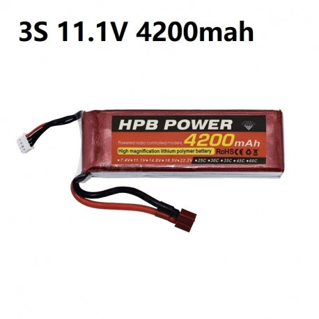 Lipo 11.1v 4200 mah - Battery - Drone - Xbotics